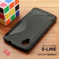 Jual Google Nexus 5 Soft Gel Jelly Silicon Silikon TPU Case Softcase Hitam Murah