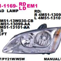 HEAD LAMP FORD FOCUS 2005