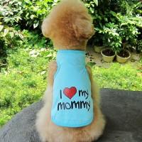 Baju Kaos Anjing ( Baju Anjing) I Love Mommy and Daddy