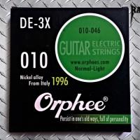 Senar gitar/guitar strings ORPHEE DE-3X gauge 0.10 elektrik