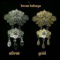 harga bross kebaya 2 susun silver n gold Tokopedia.com
