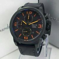 Jam Tangan Pria Alexandre Cristie Original Type AC6267 Black Orange