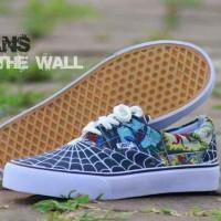 Sepatu Casual Vans Motif Spiderman Simple Keren & Termurah 009