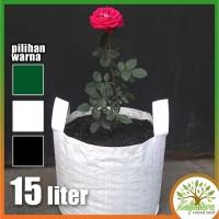 Harga pot kantong tanaman 15 liter kantung planter bag 15 lt hobi | antitipu.com