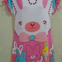 DSLN44 - Dress Lengan Pita Bear Ribbon