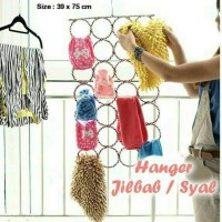 Gantungan jilbab 28 ring / Hanging scarf organizer / Hanger syal