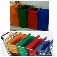 Tas Belanja Shopping Bag Kanvas Reusable Kantong Plastik Supermarket