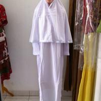 Jual Baju Ihrom Wanita Lengkap Gamis Putih