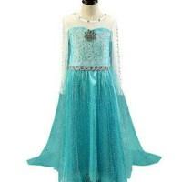 Baju Frozen / Baju Elsa Frozen / Kostum Anak / Kostum Putri Frozen / Gaun
