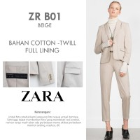 ZARA SINGLE BUTTON BEIGE BLAZER