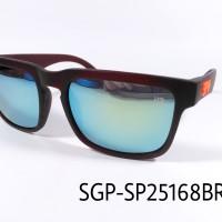 Sunglasses SPY HELM KEN BLOCK BROWN COATING MIRROR BLUE (SGP-SP25168BR