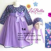 """Baju Gamis Anak Perempuan """"Labella Size S (2-3th) """""""