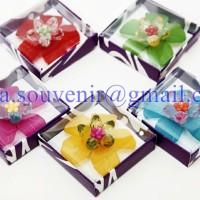 Jual Souvenir Bros Bunga Akrilik Besar Murah