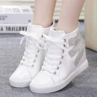 Sepatu Kets Boots Pasir Putih | Sepatu Boots | Sepatu Ket Wanita | Sepatu
