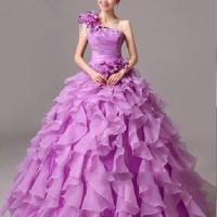 Jual Gaun Pengantin Import pesta bridesmaid wedding dress ungu terbaru Murah