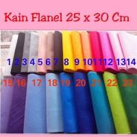 Grosir Kain Flanel 25 x 30 cm / Kain Craft / Kerajinan / Murah