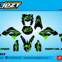 harga DECAL KLX 150 MONSTER GREEN BLACK Tokopedia.com