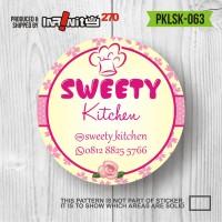 Jual sticker label produk kemasan kue cake minuman pasta botol jar PKLSK063 Murah
