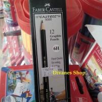 Pensil 6H FABER CASTELL (Pensil Gambar) [1 Lusin Isi 12pcs]