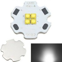 harga led chip emitter cree xb-d 12v 12w with pcb star 20mm white putih Tokopedia.com