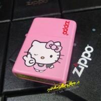 korek zippo matte pink custom hello kitty