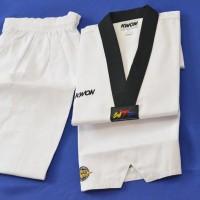 Baju Seragam Dobok Taekwondo Kerah Hitam Kwon Victory Bukan Moks