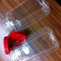 Toples wadah plastik kue kering segi enam/ toples hexagonal/ 500gr