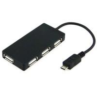 OTG Micro USB 2.0 HUB 4 Ports