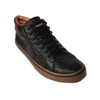 Sepatu Casual Blackmaster Geox Hitam Murah [ GX 02 ]