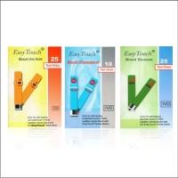 Paket Strip Easy Touch GCU 3in1 Easytouch (1Gula,1 Kolesterol,1 Urat)