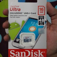 Sandisk MicroSD Ultra 48MB/S 16GB Class 10 UHS-1 - GARANSI RESMI