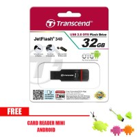 harga Transcend Flashdisk OTG JF340 32GB untuk PC dan Android - Hitam free Tokopedia.com