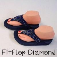 Sendal Sandal Fitflop Sponge Ringan Wanita Cewek Diamond Murah