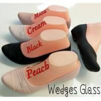 Sepatu Jelly Shoes Karet Lentur Cewek Wanita Wedges Glass / LSH Murah