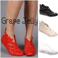 Sepatu Jeli Jelly Shoes Karet Unik Cewek Wanita Grape Jelly Murah