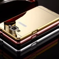 Samsung Galaxy Grand Duos Neo Plus Metal Bumper Mirror Hard Cover Case