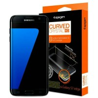 Jual Spigen Galaxy S7 Edge Screen Protector Curved Crystal HD Murah