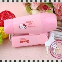 Hair Dryer Mini Hello Kitty Iron Hairdryer Kecil Bisa dibawa Travel