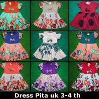 Dress Anak Perempuan 3th 4th Baju Kids Girl Pita Ribbon Grosir Pakaian