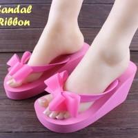 Sandal Ribbon ROSEPINK | Sandal Wanita | Sepatu Wanita | Sandal Tinggi