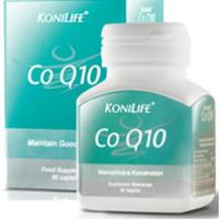 Koenzim Coenzyme Co-Q10 KONILIFE CoQ10 Nutrisi untuk Sel & Organ Tubuh