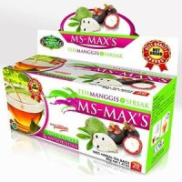 Jual Teh Celup Herbal Kulit Manggis Plus Daun Sirsak MS-MAX'S Darusyifa Murah