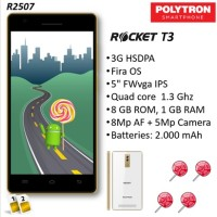 Polytron R2507 Rocket T3 Smartphone [Grs Resmi]