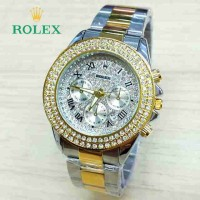ROLEX BALOK SILVER GOLD COVER SILVER BLING-BLING