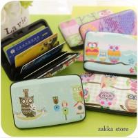 Tempat Kartu Card Holder Isi 14 cards Fashion Unik OWL -S1021