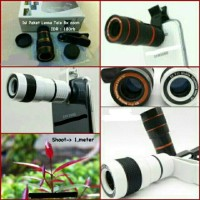 Universal Camera Lensa Telezoom 8x Jepit / Telescope For ALL type HP