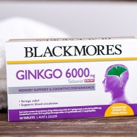 Blackmores Ginkgo 6000mg Isi 30 Redakan Vertigo dan Kuping Berdengung