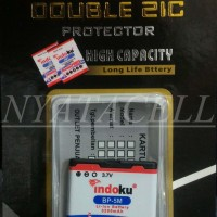 Baterai Indoku Nokia BP-5M / BP5M / Batre Double Power 3200mAh