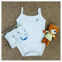 Jual Tanktop jumper BCARE White Premium Quality kaos singlet bayi baby girl Murah