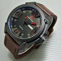 Jam Tangan Quicksilver Leather (Jam Tangan Pria, Swiss Army, Rolex, Gc)